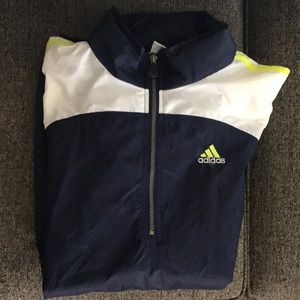 Adidas men's pull over windbreaker
